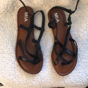 MIA sandals brown and black